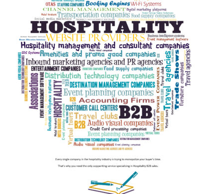 Hospitality Copywriting services packet